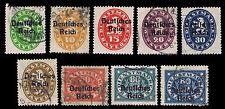 1920 GERMANY OFFICIAL OVERPRINTS - USED & UNUSED - VF - CV$15.15 (ESP#1001)
