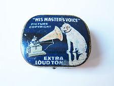 Grammophon NADELDOSE HIS MASTER'S VOICE gramophone needle tin