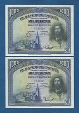 ESPAÑA // SPAIN -- PAREJA 1000 PESETAS ( 1928 ) -- EBC // XF -- PICK 78a .