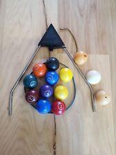 VINTAGE AURORA SKITTLE BILLIARDS POOL GAME PARTS BALLS Cue Ball Chain
