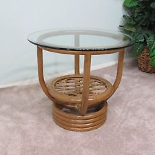 Premium Rattan End Side Table Honey Finish (Delivered Fully Assembled)