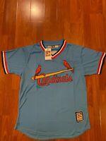 Ozzie Smith St. Louis Cardinals Powder Blue Jersey Size L