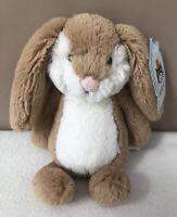 NEW Jellycat Small Bashful Wriggle Bunny Rabbit Baby Soft Toy Comforter BNWT