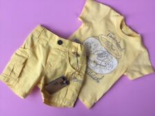 Designer TIMBERLAND Baby Boys 2 piece set 1 month Yellow WAS £49 NOW £20 SALE!!