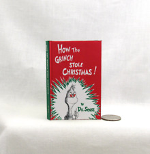 HOW THE GRINCH STOLE CHRISTMAS Book in 1:3 Scale Readable Book AG Dr. Seuss