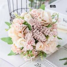 13 Heads Luxury Silk Rose Artificial Flowers Wedding Bouquet Home Party Decor .M