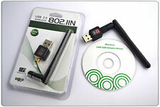 WIFI 150MBPS WIRELESS ADAPTOR 802.11BGN NETWORK USB LAN DONGLE ADAPTER w/Antenna