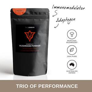 Organic Medicinal Mushroom Powder | Reishi,Chaga,Cordyceps | 50g-1kg | The Grove