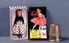 Dollhouse Miniature 1:12  Miss Revlon Doll Box  1950s retro dollhouse girl