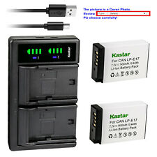 Kastar Battery LTD2 USB Charger for Canon LPE17 EOS RP Mirrorless Digital Camera
