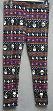 Juniors XXL 19 Super Plush Ankle Legging Halloween Ghost Skull Candy Corn