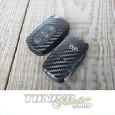 Llave Carbono Diseño Decoración Lámina Adhesivo en Blanco 3-tasten para Audi