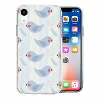 For Apple iPhone XR Silicone Case Birds Pattern - S3028