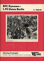 OL 82/83 1. FC Union Berlin - BFC Dynamo, 06.04.1983, Ingo Weniger