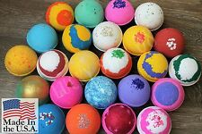 Bath bomb fizzy lush premium type lot of 10 big bath bombs 5 oz tennis ball size