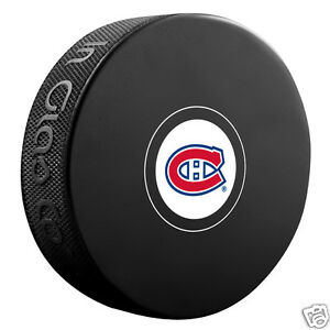 MONTREAL CANADIENS Small Team Logo (for Autographs) SOUVENIR PUCK NEW In Glas Co