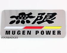 Brushed Aluminium Honda MUGEN Power Badge