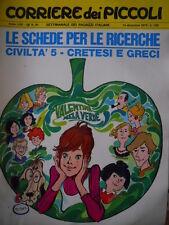 Corriere dei Piccoli 50 1970 Michel Vaillant - Valentina Mela Verde  [C18]