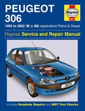 Haynes Manual 3073 Peugeot 306 1.8 1.9 2.0 HDi L LX GLX Diesel 1993-2002 NEW