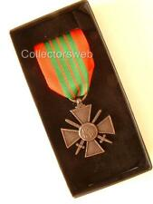 WW2 FRENCH CROIX DE GUERRE CROSS OF WAR MEDAL FULL SIZE BOXED