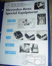 Mercedes SPECIAL EQUIPMENT OPTIONS LIST W108 280SE 280SEL 4.5L 1968 - '71 focus