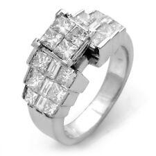 2.25Ct Princess Vvs Solitaire Engagement Anniversary Diamond Ring Platinum Sz6.5