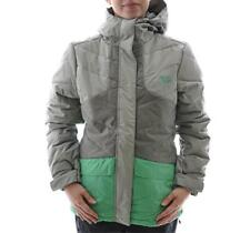 Rip Curl FIZZ PUFFER Womens Size XS Grey Green Waterproof Snow Board Ski Jacket