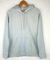 New Curfew Womens Juniors Size L Raglan Hoodie Sweatshirt Raw Seams Cotton Gray