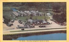 "Parsippany New Jersey~Aerial Vw~Buttel-Owned ""The Harbor"" Dexter 1940s Postcard"