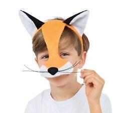 Childrens Fox Half Face Mask Animal Boys Girls Book Week Day Fancy Dress