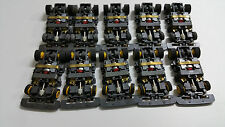 TYCO TCR CHASSIS WIDE LOT OF 10 COMPLETE GREY AND YELLOW BRAND NEW.FIRE SALE!