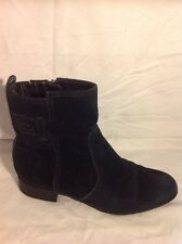 Footglove Black Ankle Suede Boots Size 5.5