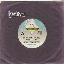 """Melissa Manchester - No One Can Love You More Than Me - 7"""" single"""