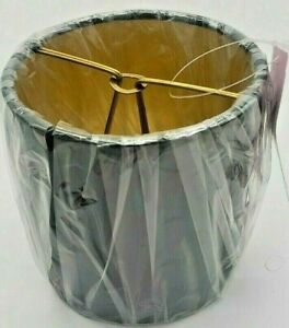 "Nice New Allure Black w/Gold interior Chandelier Drum Shade 4"" X 4"" X 4"""