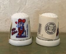 NWT Vintage Ole Miss Colonel Rebel Porcelain Thimble ~ University of Mississippi