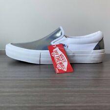 Vans Slip-On Pro Iridescent - White Skate Shoes Men's Size 7.5 Women's 9