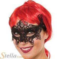 Black Lace Eyemask Venetian Masquerade Cat Eye Mask Party Fancy Dress Ball