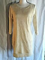 Deb Clothing Women's Size XL Lace Front Knit Tunic Dress Off White Beige