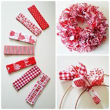 Make Your Own Handmade Red & White Christmas Shabby Chic Rag Wreath Scandi