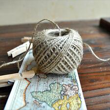 30M Natural Brown Jute Hemp Rope Twine String Cord Shank Craft Making DIY