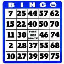 Large Print Bingo Cards For Low Vision, Big Numbers, Thick Cards, Qty 10