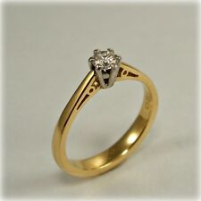 18 carat Gold 0.20 carat Single-stone Diamond Ring