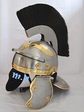 Roman Imperial Gallic Centurion Head Medieval Armour Knight Helmet W/Black Plume