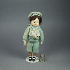 1930s Vintage muñeca en miniatura composición marinero Hummel Goebel Estilo Lenci