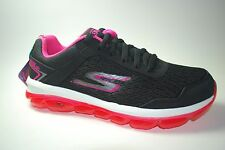 SKECHERS Women's GO AIR BLACK PINK AIR CUSHIONED GOGA PILLARS SZ 7 NEW