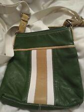 ALFANI leather Green cross body Color Block G1a