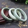 Chinese Beautiful Genuine Natural Green Jade Gems Bangle Bracelet 60mm