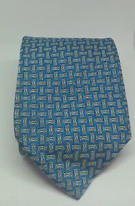 GUCCI 100% Silk Blue Tie with Horsebit Detail
