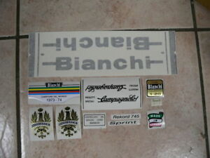 adesivi Bianchi bici Bike 02 Vinyl Decals Stickers Frame Replacement Set vintage