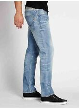 Guess slim Straight Jeans In Burnout Wash Light Blue Denim With Destroy Size 28
